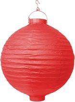 Decoratieve lampion rood LED 20cm