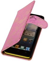 Lace Bookstyle Hoes voor Nokia Lumia 830 Roze