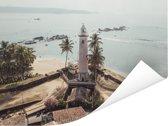 Luchtfoto van het historische Fort Galle in Sri Lanka Poster 80x60 cm - Foto print op Poster (wanddecoratie woonkamer / slaapkamer)