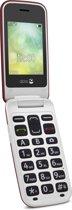 Doro 2424 Senioren klaptelefoon met grote knoppen (Rood-Wit)