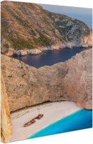 Een eiland met helder water Canvas 20x30 cm - Foto print op Canvas schilderij (Wanddecoratie woonkamer / slaapkamer) / Zee en Strand