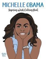 Boekomslag van 'Michelle Obama Inspiring Words Coloring Book'