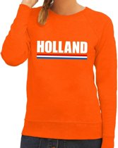 Oranje Holland supporter sweater dames S