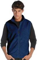 Fleece casual bodywarmer navy blauw voor heren - Outdoorkleding wandelen/zeilen - Mouwloze vesten L