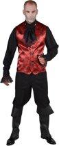 Vampier & Dracula Kostuum | Spinnenweb Halloween Gilet Rood Man | Medium / Large | Halloween | Verkleedkleding