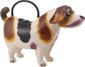 Decoratieve gieter, hond van metaal