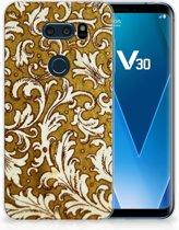 LG V30 TPU Hoesje Design Barok Goud