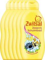Zwitsal Woezel En Pip Badschuim Baby - 6 x 200 ml - Voordeelverpakking