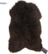 WOOOL Schapenvacht Groot (100-110cm) Bruin - 100% Echt Wol - ECO Gelooid - Schapenvel