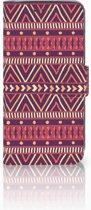 Motorola Moto Z2 Play Uniek Boekhoesje Aztec Purple