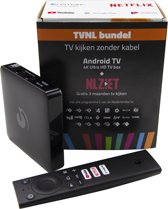 TVNL Bundel - Android TV - 4K Ultra HD TV Box - + 3 Maanden NL Ziet  - Netflix - Disney+