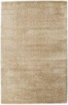 Vloerkleed Silky Touch tapijt Beige Hoogpolig - 160 x 230 cm