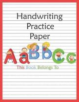 Handwriting Practice Paper: ABC Kids, Notebook with Dotted Lined for K-3 Students, 100 pages, 8.5x11 inches