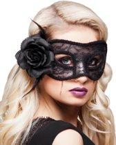 St. Kanten oogmasker Mystique zwart