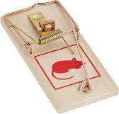 relaxdays Muizenval - hout - klapval - val - muizenklem - muizenvallen set van 12 stuks