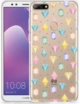 Huawei Y7 2018 Hoesje Diamonds