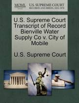 U.S. Supreme Court Transcript of Record Bienville Water Supply Co V. City of Mobile