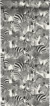 Origin behang zebra's zwart en wit - 347453