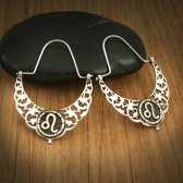 Biggdesign Scorpio Zodiac zilveren oorbellen voor dames   Bronzen detail   Horoscooppictogram   Speciale sieraden voor horoscoop   Verjaardagscadeau   Speciaal ontwerp   925 sterling zilver