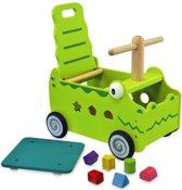 I'm Toy Loop/duwwagen Krokodil - Groen