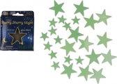 Glow in the dark sterren 24 stuks