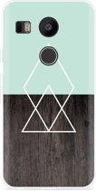 LG Nexus 5X Hoesje Wood Simplicity