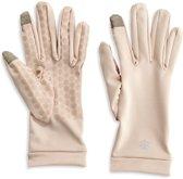 Coolibar UV handschoenen Unisex - Touchscreen geschikt - Beige - Maat XL