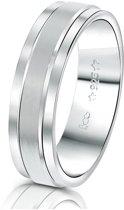 Lucardi - You & Me - Zilveren vriendschapsring Shanghai heren