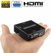 HD 1080P HDMI Mini VGA naar HDMI Scaler Box Audio Video Digital Converter Adapter voor pc / HDTV