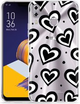 Zenfone 5Z ZS620KL Hoesje Watercolor Hearts