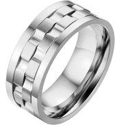Mendes Jewelry heren ring Edelstaal Tandwiel-18mm
