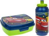 Stor Lunchset Cars 3 Blauw/groen 2-delig