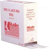 Mueller Heel & Lace Pads / 2000 st. 1 mm x 7,6 cm x 7,6 cm<br /> (incl. dispenser)