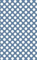 Polka Dots - Blue-Gray 101 - Lined Notebook with Margins 5x8
