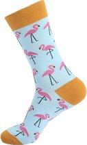 Hippe Sokken -  Flamingo blue ,  Maat 41 - 47
