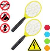 relaxdays 2x elektrische vliegenmepper - tegen muggen - vliegen mepper elektrisch - rood