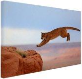 Poema in de bergen Canvas 80x60 cm - Foto print op Canvas schilderij (Wanddecoratie)