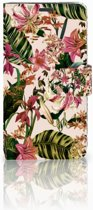 Motorola Moto G5 Uniek Boekhoesje Flowers