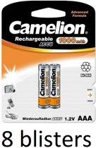 Camelion oplaadbare  batterijen AAA (1000 mah) - 16 stuks