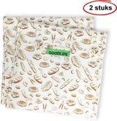 Goodlife Products Herbruikbaar Boterhamzakje - Bakkerij - 2 Stuks