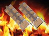 Zalm grillrooster voor vuurkorf