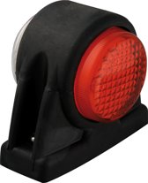 Breedtelicht 12/24V rood/wit 101x82mm LED