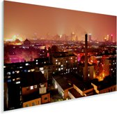 Rode gloed over Changchun in China Plexiglas 180x120 cm - Foto print op Glas (Plexiglas wanddecoratie) XXL / Groot formaat!