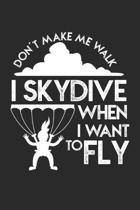 Skydive: Fallschirmspringen Notizbuch liniert DIN A5 - 120 Seiten f�r Notizen, Zeichnungen, Formeln - Organizer Schreibheft Pla
