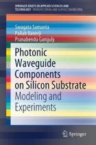 Photonic Waveguide Components on Silicon Substrate: Modeling and Experiments