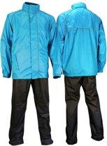 Ralka Comfort Regenpak - Volwassenen - Unisex - Maat M - Azuurblauw/Antraciet