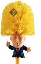 9ineSanitair | Donald Trump | Toiletborstel Met Houder | Grappig | Voor Uw Vrienden En Familie | Make Your Toilet Great Again | Presidentiële Cadeau | WC Borstel | Badkamer | Schoonmaken | Toilet | Sanitair | Trump Dump & Houder