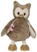 Knuffel Uil large 28 cm - roze