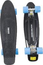 SWASS Vinyl Cruiser Skateboard Penny Retro - Zwart/Blauw
