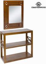 Gangkast met spiegel forest - Chocolate Collectie by Craften Wood